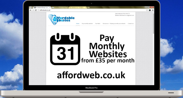 Affordweb Pay Monthly websites