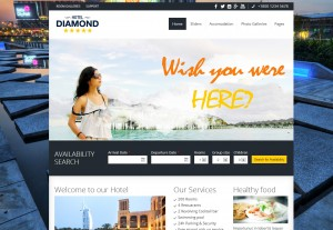 Hotel Diamond Drupal Booking Theme