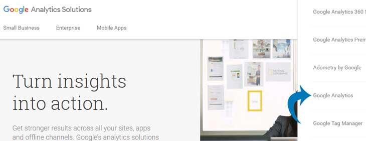 Hit the Google Analytics link